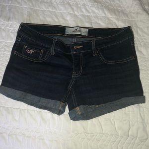 Hollister Dark Wash Jean Shorts